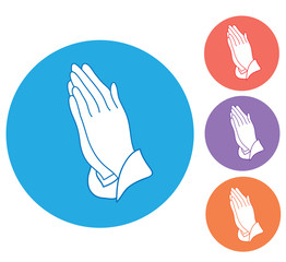 Vector Praying Hands
