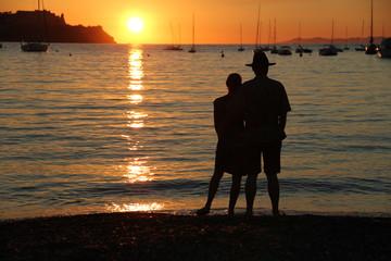 Sonnenuntergang auf Insel Elba