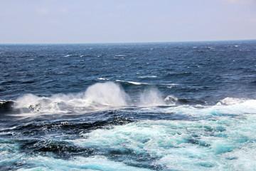 Штормовая погода и волны в Тихом Океане