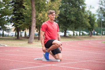 Portrait of Runner Exercising Outside