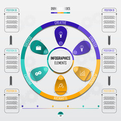 Vector business template for presentation. Concept for infographic.