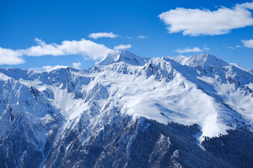 Scenic view of mountain peaks in the Pyrenees