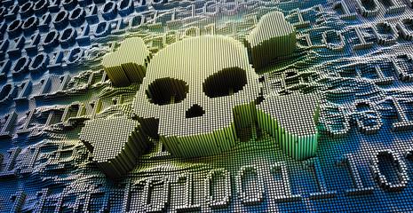 Digitaler Totenkopf - Gefahr aus dem Netz