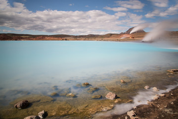 Blue Lake, Myvatn geothermal area, Iceland