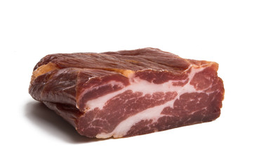 jerky meat isolated