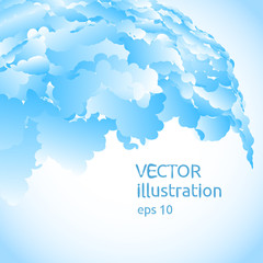 Vector abstract background of blue blobs