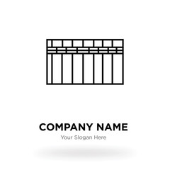 Heater company logo design template, Business corporate vector icon