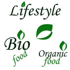 Lifestyle logo design. Vector