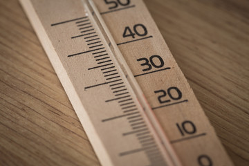 view of the thermometer
