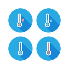 Set of thermometer icons