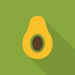 Avocado flat icon vector, colorful logo illustration isolated on white