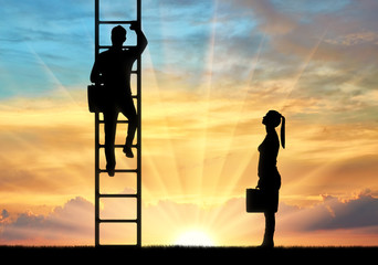 Concept of gender inequality in career and business