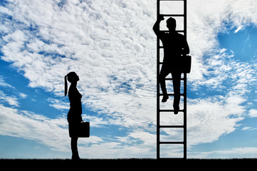 Concept of gender inequality and discrimination against women in their careers
