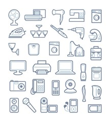 Home appliances. Vector illustration