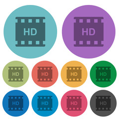 HD movie format color darker flat icons