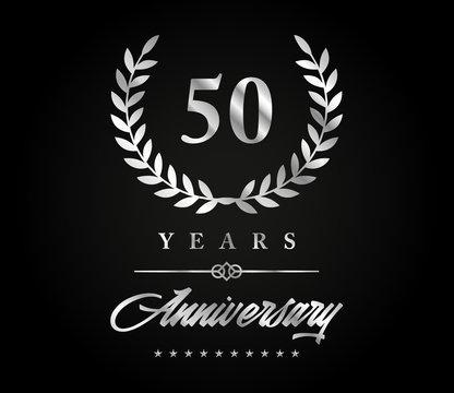 50 years anniversary silver