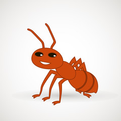 Cute ant cartoon vector. Vector illustration. Vector design element for logo, web and print .