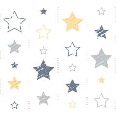 Stars with subtle grunge texture, vintage abstract background, minimalist pattern, festive decoration