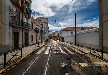 Streets of the city of Lisbon. Portugal.
