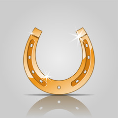 vector gold horseshoe