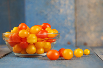 Delicious and colorful cherry tomatoes