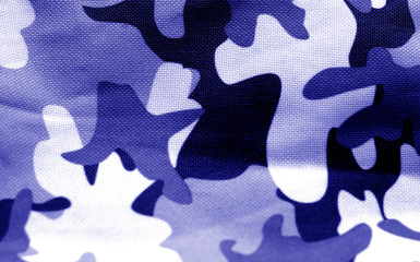 Military uniform pattern in blue tone.