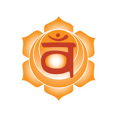 svadhisthana chakra icon symbol esoteric yoga indian buddhism hinduism vector