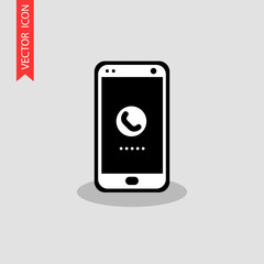Mobile phone icon. It can be used as - logo, pictogram, icon, infographic element.