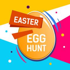 Bright Easter Egg Hunt Inscription