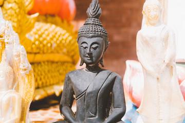 Buddha as a symbol of Buddhism close-up.