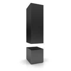 exclamation mark 3d black exclamation point sign symbol icon