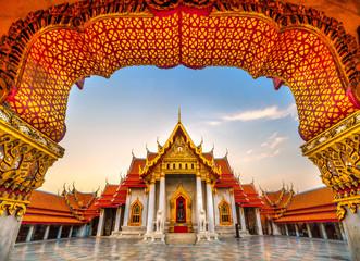 Papiers peints Bangkok Wat Benchamabophit Dusit Wanaram, Bangkok, Thailand