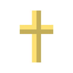 Religion Cross Icon in flat style. Easter icon. Vector illustration