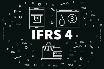 Conceptual business illustration with the words ifrs 4