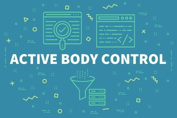 Conceptual business illustration with the words active body control