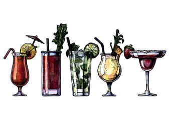 alcohol cocktails set