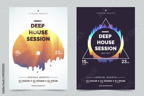 Deep house party a4 invitation concept night club party modern deep house party a4 invitation concept night club party modern flyers black and white stopboris Image collections