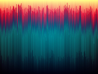Glitch background. Image data distortion. Color abstract lines concept. Glitched vertical stripes. Gradient shapes design. Vector illustration