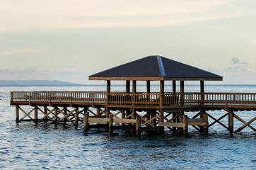 Wooden pier on Taveuni Island, Fiji