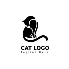 part art cute cat logo