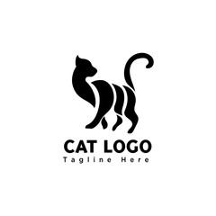 part art walking cat logo