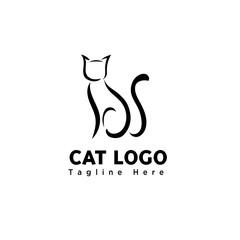 brush art stand cat logo