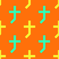 Cross shade seamless pattern. Strict line geometric pattern for your design.
