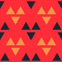 Wolf eye graphic seamless pattern. Strict line geometric pattern for your design.