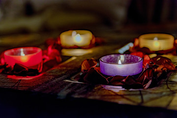romance with candles