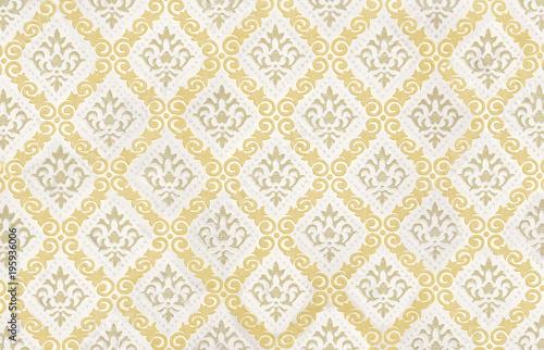retro vintage tapete mit gelbem muster als hintergrund - Tapete Muster