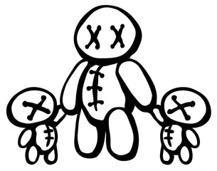 Voodoo Doll Twins Parent