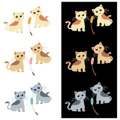可愛いネコのイラスト