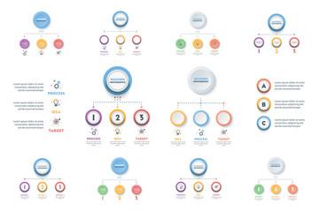 Set of Business Infographic Template.Modern Infographics Timeline Design.Colorful Vector Illustration