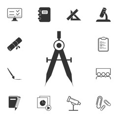 Compass icon. Detailed set of education element icons. Premium quality graphic design. One of the collection icons for websites, web design, mobile app